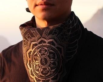 Om Mani Padme Hum x Manipura Chakra Bandana - Sacred Geometry Clothing