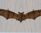 Wood Bat Wall Hanging - W...