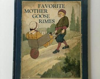 Vintage Illustrated Mother Goose, Favorite Mother Goose Rimes 1916