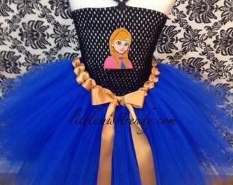 Princess Anna Inspired Tutu Dress, Anna Tutu Dress, Anna Costume, Princess Anna Winter Clothes Tutu Dress, Princess Anna Tutu Dress