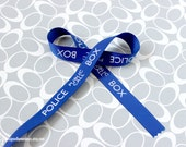 "Dr. Who Police Box 5/8"" Grosgrain Ribbon TARDIS Craft Supply Smaller Print"