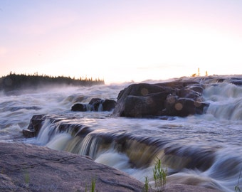 Cascading Falls photography - nature - canada landscape - decorative print - waterfall