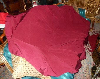 BURGUNDY MOIRE TABLE Cloth
