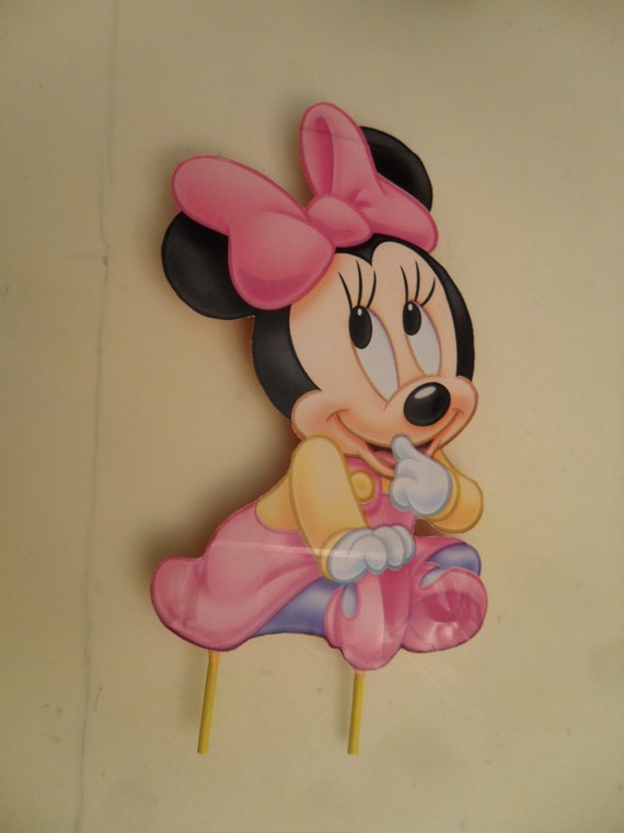 Minnie Mouse Cake Topper Images : Baby Minnie Mouse Cake Topper or Centerpiece