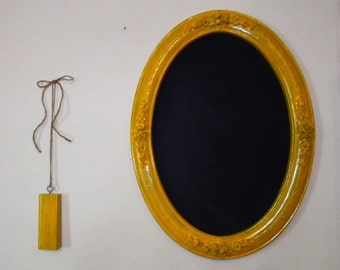 Upcycled Yellow Framed Victorian Chalkboard