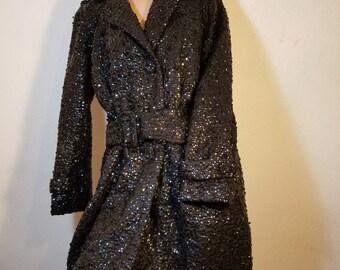 SOLD.        Vintage Sequin Trench Coat