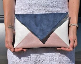 The Jet - Modern Colorblock Envelope Clutch Handbag