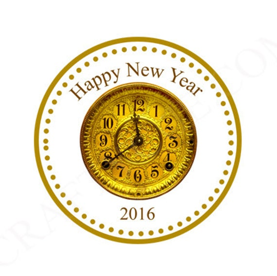 new years eve party favor tags new years gift tags new years party favors clock favor tags. Black Bedroom Furniture Sets. Home Design Ideas