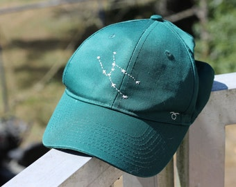 Taurus Constellation Forest Green Baseball Cap