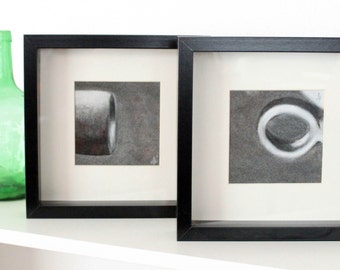 Diptych charcoal