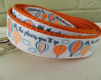 Oh The Places You'll Go Hot Air Balloon Dog Leash