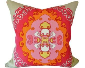 Schumacher Outdoor Medallion Decorative Pillow Cover - Trina Turk - Both Sides - 14x20, 14x24, 16x16, 18x18, 20x20, 22x22, 24x24