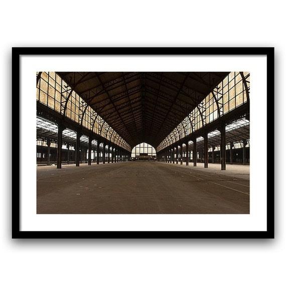 Art, photography, fine art photography, fine art print -  industrial urban decay,  8x12, 13x19, Wall Decor, Home Decor, brown, giclée print