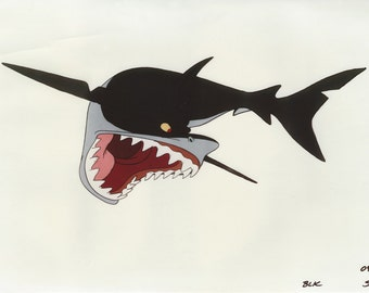 THE LITTLE MERMAID original production Shark model sheet