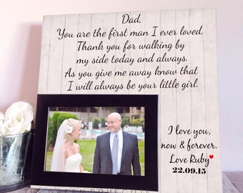 Custom Wedding Gift - Gifts For Dad - Father Of The Bride Gift - Wedding Gift For Dad - Parents Wedding Gift - Wedding Photo Frame
