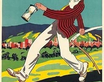 Vintage Adelaide South Australia Tourism Poster A3 Print