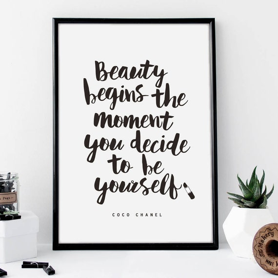 coco chanel makeup quote decor inspirational tumblr quote