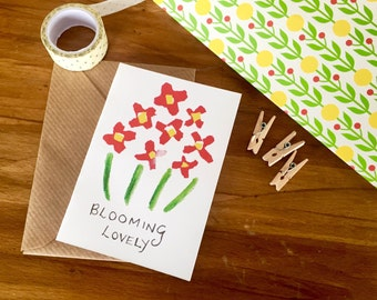 Blooming Lovely - greetings card, notelet, thank you card, friend card, thank you note