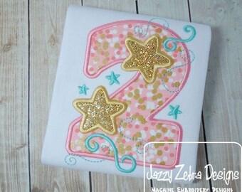 Two Stars Applique Design