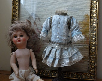 SALE Collectors French SFBJ doll with antique dress and mannequin