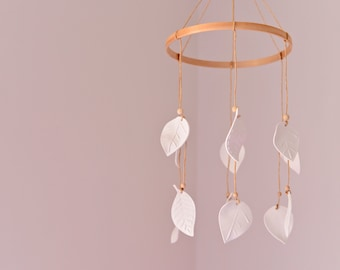 Porcelain Leaf Mobile