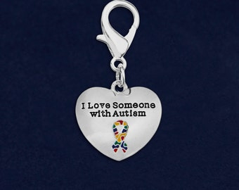 25 I Love Someone With Autism Hanging Charms (25 Charms) (HC-97-2)