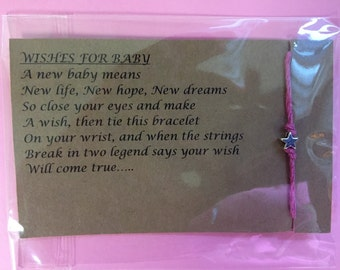 Wishes for baby bracelet (It's a Girl!)