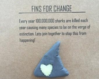 Shark Fin Brooch