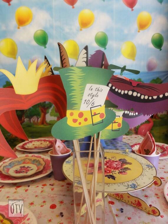 Alice in Wonderland Photobooth Props / Masks PRINTABLE - Instant Download