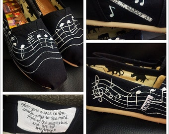 Custom painted Music Toms. Designed and personalized just for you!