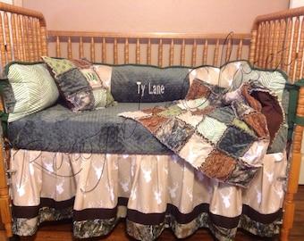 Custom Deer Crib Bedding Set