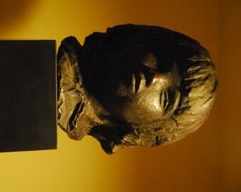 """Pierre Renoir Cast Bust """"Head of Coco"""", 1958 Alva Studios Museum of Art"""