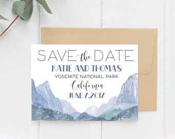 Save the Date Mountain Wedding, Yosemite Wedding, Colorado Wedding