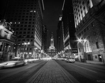 Downtown Philadelphia Winter Night