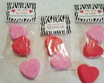Valentine Shower/Bath Melts Spa Gift for her, friend, Aromatherapy Love Gift