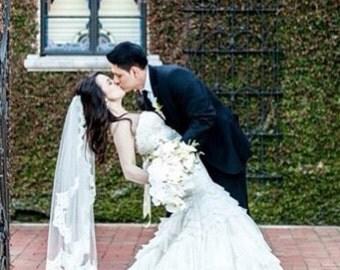 Bridal Veil Lace Beil Alencon Lace Veil