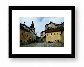 Orava Castle, architecture, photograph, color, office decor
