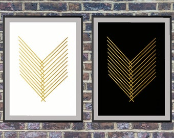 2 for the price of 1 Gold Minimalist Art Print, Printable Art, Abstract Art, Scandinavian Art, Gold Abstract Wall Art *161*