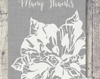 Blank Note Cards | Taupe Camellia Note Cards | Note Card Set | Thank You Card Set