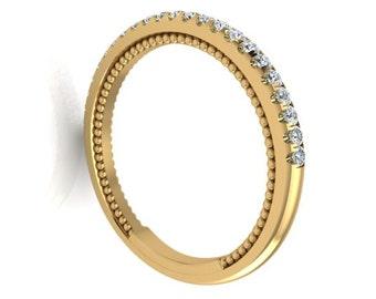 Wedding diamond band, Wedding Ring, Engagement Band, Straight Matching Band, Matching Wedding Band For Item#200, Wedding Diamond Band