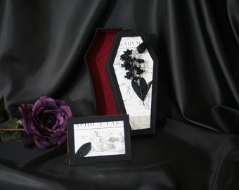 Coffin Gift Box -  Black Toile