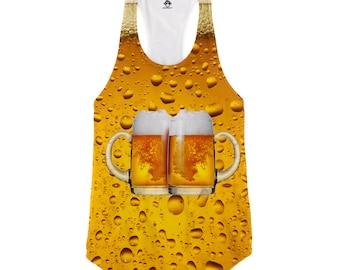 Beer Cheers Racerback Tank Top