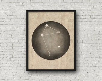 Libra Constellation Art, Art Print Poster, Wall Art, Libra Art, Zodiac Constellation, Zodiac Sign, Zodiac Art, Zodiac Print