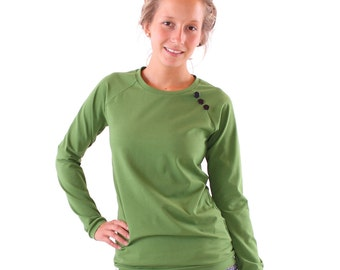 "Sweater ""Emma"" with buttons / / Green"