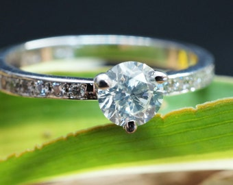 Engagement Ring 0.56 ct White Gold Diamond Ring - Valentines Gift - Bridal Jewellery - Womens Jewellery