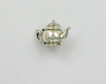Sterling Silver Movable 3-D 23mm Teapot Charm
