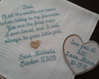 Personalized Wedding Handkerchief & Tie Patch Combo