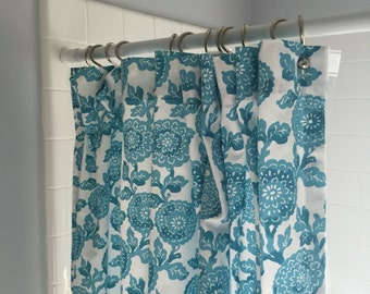 "Shower curtain in floral ""mums"" more colors available"
