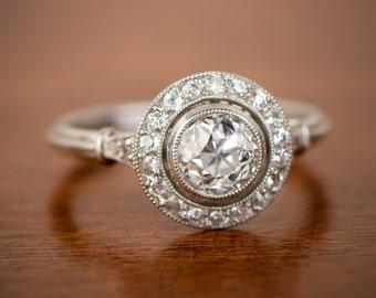 Vintage Style Engagement Rings - 1.10ct Old European Cut Diamond.