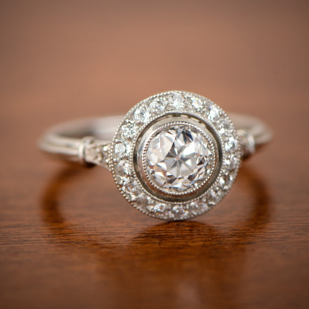 Vintage Style Engagement Rings 1 10ct Old European Cut